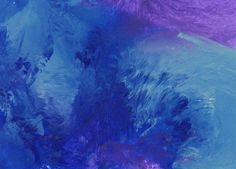 Original Painting  5 x 7  Abstract  Blue and Purple by AidforAbby