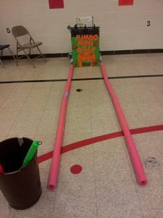 Jumbo mini golf. Fall festival game