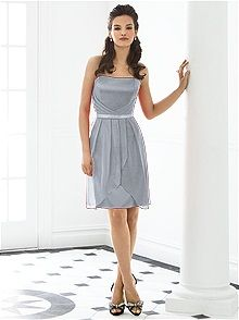 After Six Style 6650 #gray #bridesmaid #dress