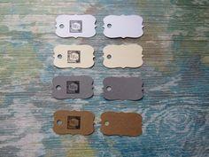 Étiquettes personnalisées, Étiquettes à bijoux, étiquettes à vêtements «Mini mini! Modèle A» (50) 4 couleurs disponibles de la boutique Lamainalacarte sur Etsy