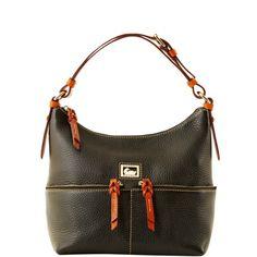 Dooney & Bourke: Dillen II with Tan trim Small Zipper Pocket Sac