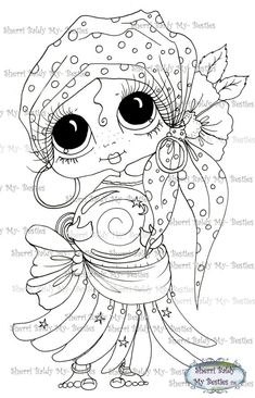 INSTANT DOWNLOAD Digital Digi Stamps Big Eye Big Head Dolls Digi Besties Img390 Bestie By Sherri Baldy