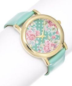 Love this Mint Flower Watch on #zulily! #zulilyfinds
