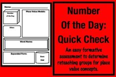 [FREE] Number of the Day Quick Check.  Could be used also for anyone who needs additional work with composing and decomposing numbers. You can quickly find out who still needs work with which concept.  This could also be a review activity, used for note taking or it could be a simple morning seat work exercise.