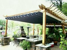 There Are A Plenty Of Pergola Rain Cover Ideas Built With