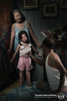 """Center for the Protection of Children's Rights """"Pain 3"""" From Leo Burnett / Bangkok @LeoBurnettAsia"""