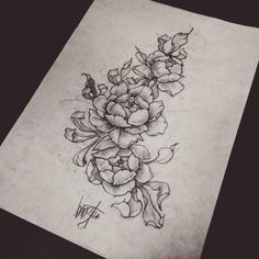#hamstertattoo #VIPTATTOO #flowersketch #lineart #drawing #design #tattoo #pions #graphic #artist #inked