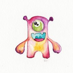 Baby Art Original Watercolor Painting by BrilliantCritter on Etsy, #cute #Baby