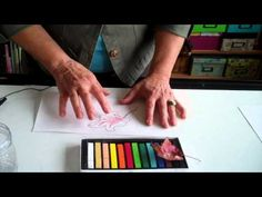 How To Use Pastels with water