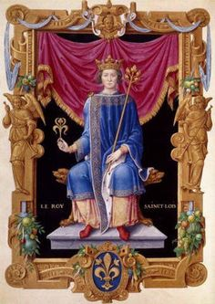 Saint Louis IX, King of France , whose feast we celebrate today, is the epitome of the Christian knight, king and crusader . He is the pa. Catholic Saints, Patron Saints, Roman Catholic, Litany Of St Joseph, Saint Joseph, St Louis, Luis Ix, Carthage, Royals