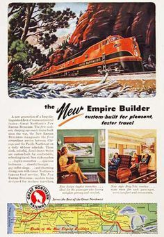 Great Northern Railroad 1946 Empire Builder - www.MadMenArt.com features over…