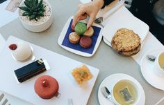 We indulged at Tout Sweet with tea and pastries. Happy National Dessert Day!