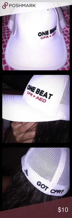One Beat Got CPR organization cap all white One Beat Accessories Hats