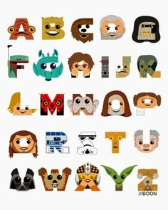 Mike BaBoon Design: ABC3PO (A Star Wars Alphabet)