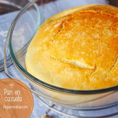 Receta fácil de pan en cazuela My Favorite Food, Favorite Recipes, Mexican Sweet Breads, Cooking For Dummies, Bread Recipes, Cooking Recipes, Cake Mix Cookie Recipes, Macaroon Recipes, Pan Dulce