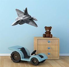 24 F22 RAPTOR JET 2 plane Navy Halo Air Force Wall Graphic Decal Sticker Mural Home Kids Game Room Art Decor NEW * Learn more by visiting the image link. (Note:Amazon affiliate link)