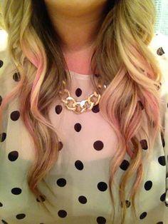 ombré pink hair.