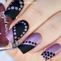 Super easy and beautiful matte dot nail art By: sveta sanders Nail art designs, be inspired by the super leading nail post suggestion ref 3505367005 for one amazingly eye catching nails. Diy Nails, Cute Nails, Pretty Nails, Hallographic Nails, Dot Nail Art, Pink Nail Art, Purple Nail, Ombre Nail, Nagellack Design