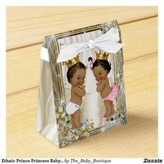 Ethnic Prince Princess Baby Shower Favor Boxes