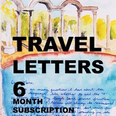 TRAVEL LETTERS 6 month subscription by JaniceArtShip on Etsy