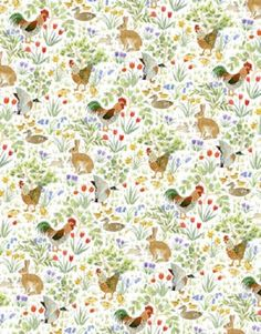 Dolls House Wallpaper-H42-Country Springtime-per sheet