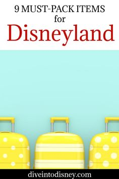Headed to the Magic Kingdom? Plan ahead and have the best time! Check out this list of the 9 Must-Pack Items for Disneyland and be prepared! Packing Lists | What to Bring | Disneyland | California Adventure Packing List For Disney, Disney On A Budget, Disney Tips, Packing Lists, Disney Food, Disneyland Restaurants, Disneyland Resort, Disneyland Secrets, Disneyland Outfits