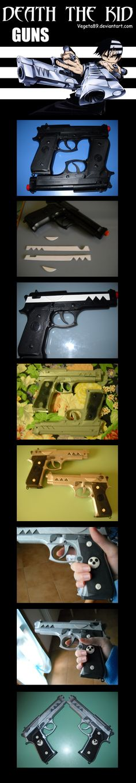 Death The Kid Guns Tutorial by ~Vegeta89 on deviantART