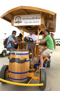 MyHandleBar offers fun tours for a group or buy your own individual spot.  Pedal your way to #Boulder bars on the mobile bar-bike.