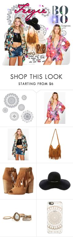 """""""A boho Fergie style"""" by britt-catlynne-weatherall on Polyvore featuring WallPops, Boohoo, Chinese Laundry, Eugenia Kim and Casetify"""