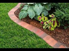 How to Edge a Garden Bed With Brick - This Old House - YouTube