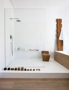 Home Interior Modern .Home Interior Modern Wood Bathroom, Modern Bathroom, Master Bathroom, White Bathroom, Bathroom Ideas, Colorful Bathroom, Eclectic Bathroom, Bathroom Trends, Minimalist Bathroom