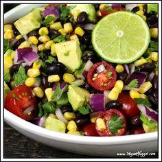 Avocado, Black Bean & Corn Salad