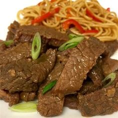 Mongolian Beef from the Slow Cooker - decrease sugar and sodium, increase ginger; try w/boneless pok