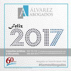 Desde Alvarez Abogados Tenerife le deseamos un Feliz 2017. En el nuevo año valore lo que tiene, supere lo que le duele y luche por lo que quiere. Feliz Año!!! https://alvarezabogadostenerife.com #SomosAbogados #AbogadosTenerife #Feliz2017
