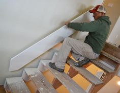 As with every other area of your property the steps will ultimately put on out and have to be replaced or refinished. This is also true for that basement stairs. Stairs Skirting, Stairs Trim, Redo Stairs, Basement Stairs, Basement Ideas, Stair Trim Ideas, Stair Redo, Diy Stair Railing, Staircase Storage