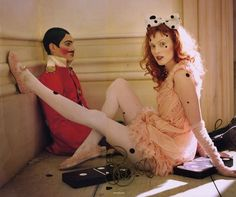 "The Terrier and Lobster: ""Soldier, Soldier, Won't You Marry Me?"": Karen Elson by Tim Walker for Vogue UK"