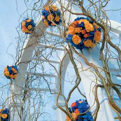 Jump on the 2014 wedding flower trend! Ceremonial floral trellises are extremely popular this year and have the ability to incorporate any type of flower the bride and groom want.