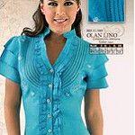 OLAN DE LINO by Frixio Casa Del Bordado-Cartago Short Sleeve Dresses, Dresses With Sleeves, Tunic Tops, Sweaters, Clothes, Women, Fashion, Templates, Molde