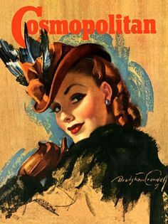 Cosmopolitan    cover art by Bradshaw Crandell    1950's