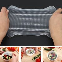 Reusable Silicone Wrap Seal Cover Stretch Cling Film Kitchen Keeping Food