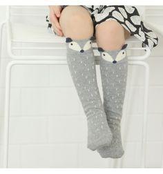 Mini Dressing Grey Raccoon Socks