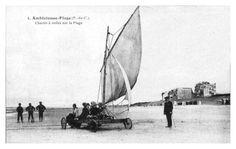 Chars à voile sur la plage d'Ambleteuse