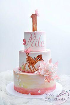 Trendy Flowers Birthday Cake For Girls Boys 1st Birthday Party For Girls, Girl Birthday Themes, First Birthday Cakes, Baby Birthday, Birthday Ideas, Birthday Cake With Flowers, Disney Cakes, Girl Cakes, First Birthdays