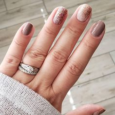 Gold Acrylic Nails, Rose Gold Nails, White Nails, Pink Nails, Nail Color Combos, Nail Colors, Color Combinations, Color Schemes, Fancy Nails