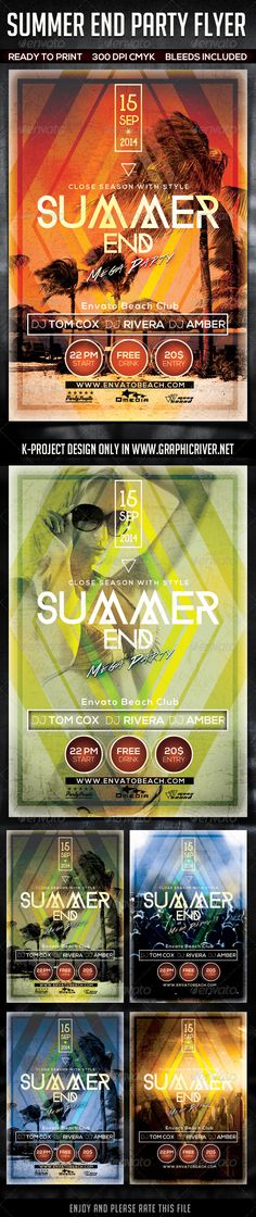 Summer End Party Flyer Template #design Download: http://graphicriver.net/item/summer-end-party-flyer/8724708?ref=ksioks