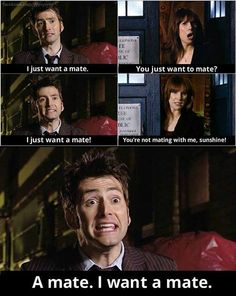 The Doctor and Donna ~ This scene cracks me up every time! :)))