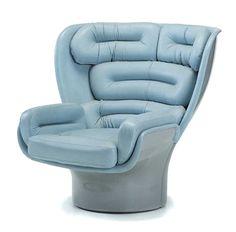 Cozy Powder Blue Chair