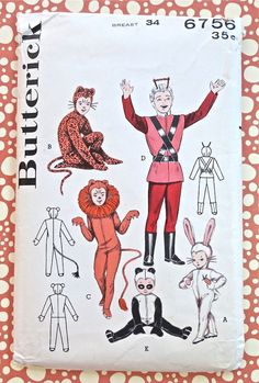 Butterick 6756 Vintage 1950s Childrens Costumes by Fragolina, $11.00