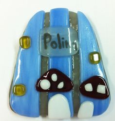 fused glass fairy door.