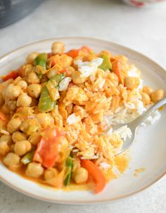 Chickpea Curry with Coconut Rice